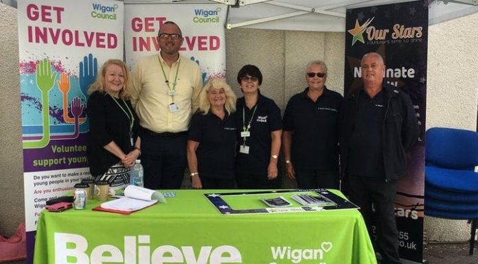 photo of volunteers at an event