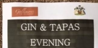 poster advertising gin and tapas evening