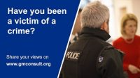 image of advert for survey for victims