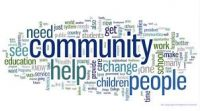 lots of words in different fonts depicting community networking