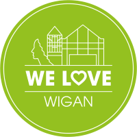 we love wigan badge