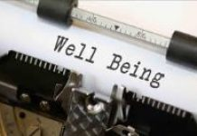 image of typewriter with the words Well Being