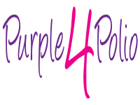 purple for polio logo