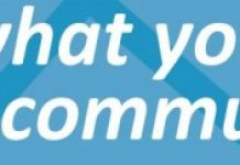 banner stating share what you do with your community