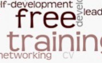 word cloud depicting free training