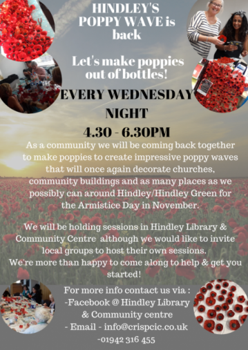 poster giving details of poppy making sessions