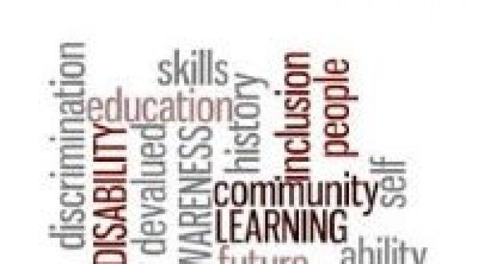 word cloud Disability Awareness Training