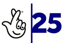 national lottery 25 years logo