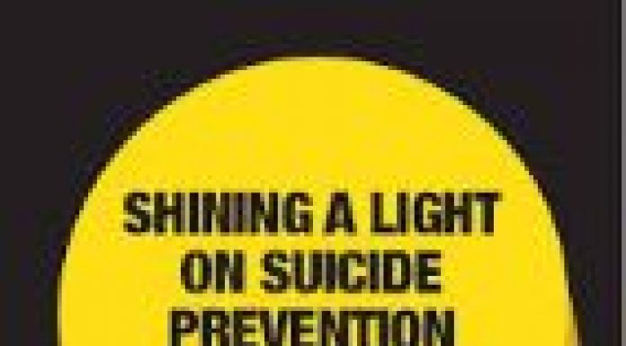 shining a light on suicide logo