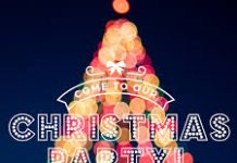 poster advertising Christmas Party