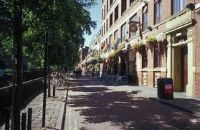 photo of Canal St Manchester with trees