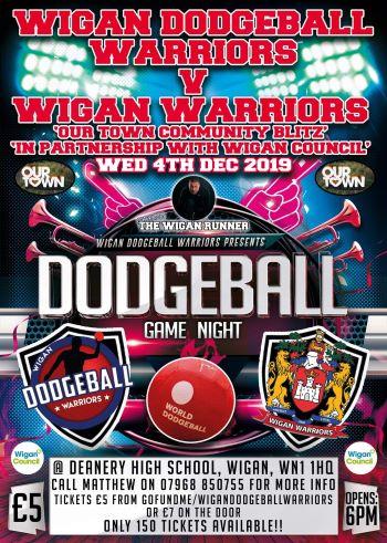 poster advertising dodgeball game