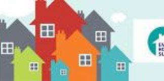 cartoon image of houses
