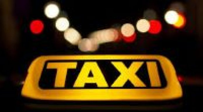 image of taxi sign