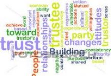 word cloud about training for trustees