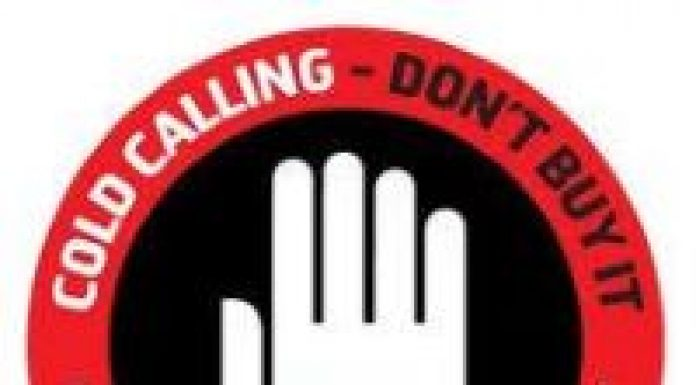 sign about cold calling