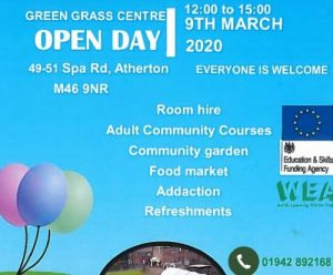 poster giving details of open day