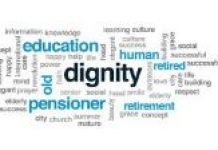 word cloud about respecting elderly persons