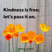 poster regarding kindness is free
