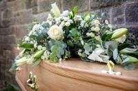 photo of a coffin