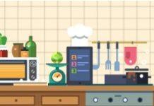 cartoon image ofa kitchen