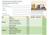order form for meals