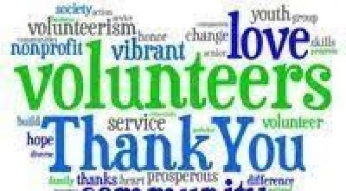 word cloud volunteers