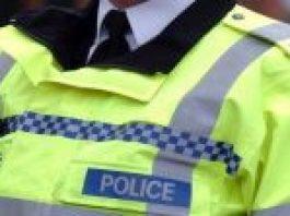 close up of police high vis jacket