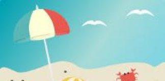 cartoon image of beach