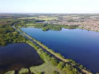 aerial view of Scotsmans Flash Wigan