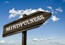 signpost stating mindfulness