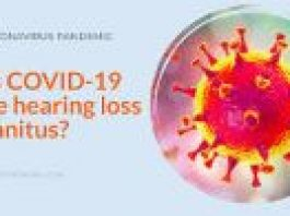 poster about covid hearing loss