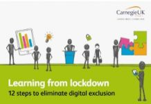 cartoon images representing digital exclusion and learning from lockdown