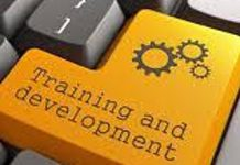 image of button on keyboard stating training and development