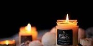 photo of a scented candle