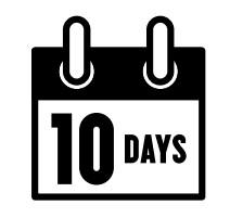 sign saying 10 days