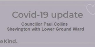 poster advetising Cllr P Collins weekly update