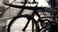 close up photo of front wheel of a bicycle